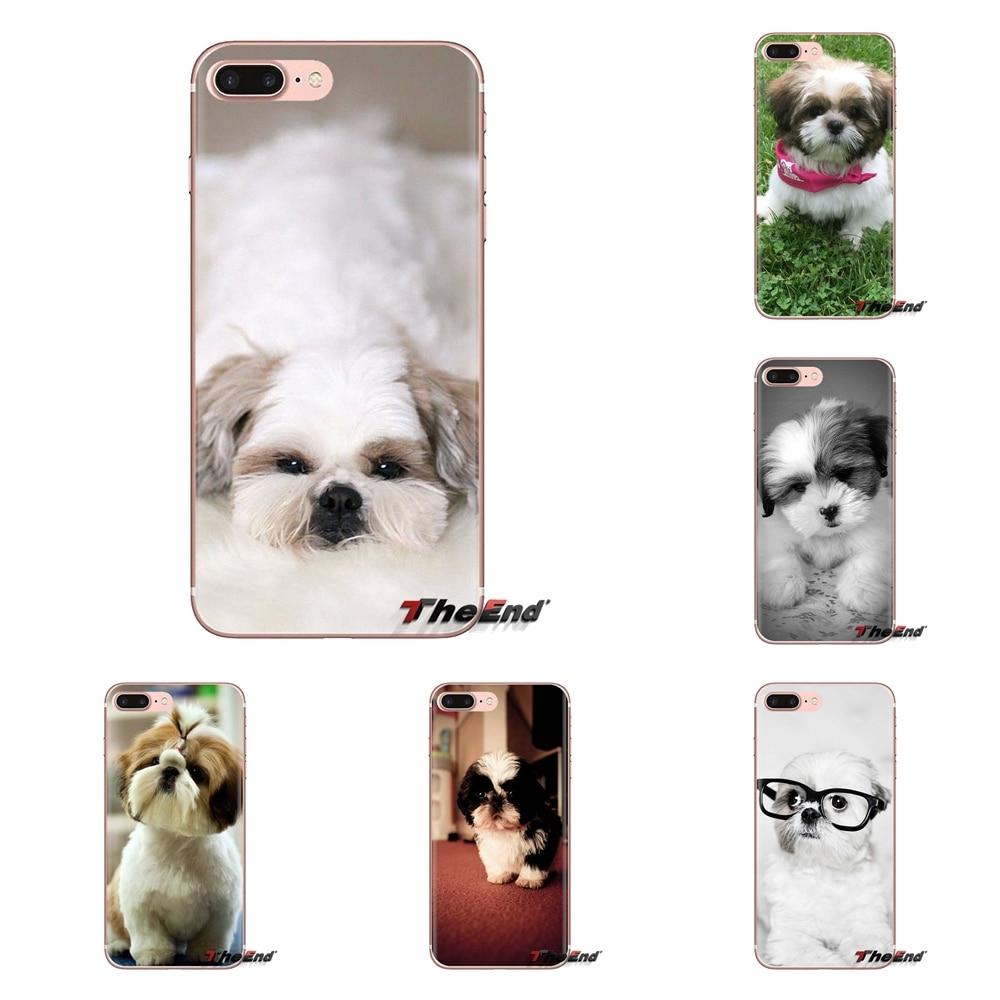 Прозрачные чехлы из ТПУ для samsung Galaxy S3 S4 S5 Mini S6 S7 Edge S8 S9 S10 Plus Note 3 4 5 8 9 Shih Tzu Shitzu Dog Puppy
