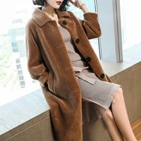 2021 winter spring women coats jackets outwear female thick parkas natural real fox fur coat ladies jacket fur overcoat q235