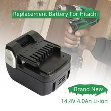 BSL1415 BSL1430 Li-ion Lithium 14.4V 4000mAh batterie Rechargeable pour Hitachi outils électriques sans fil C 14DSL DS14DBL R14DSL