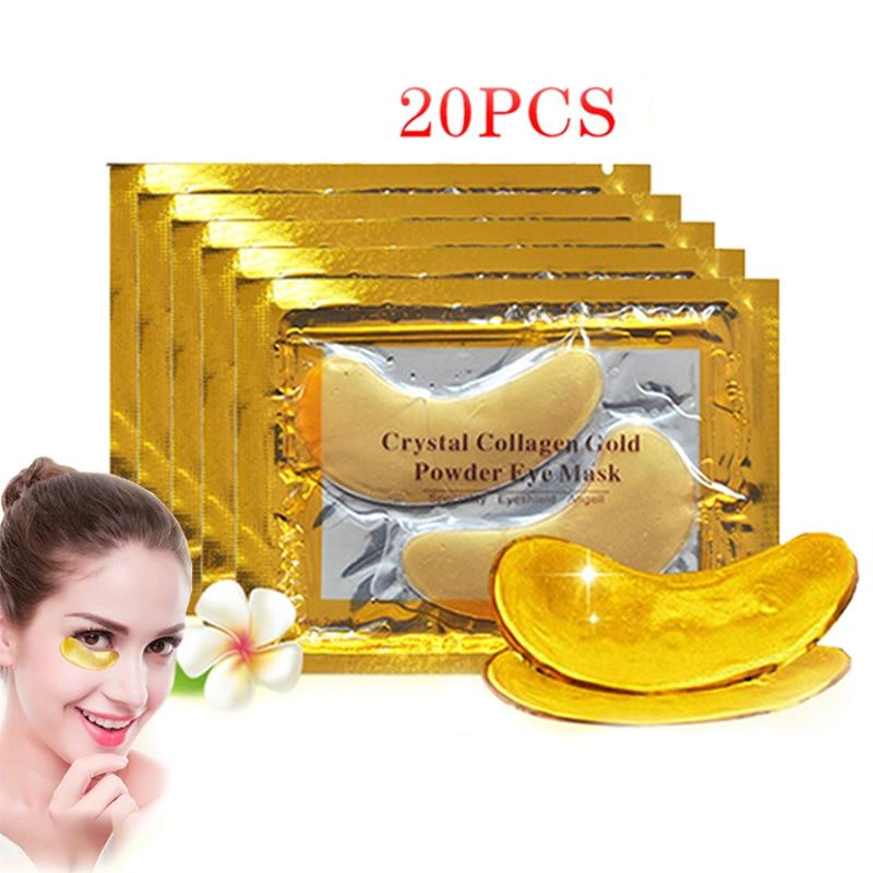 AliExpress - 10/20/40Pcs crystal collagen gold eye mask anti-aging dark circles acne beauty patch for eye skin care Korean cosmetics