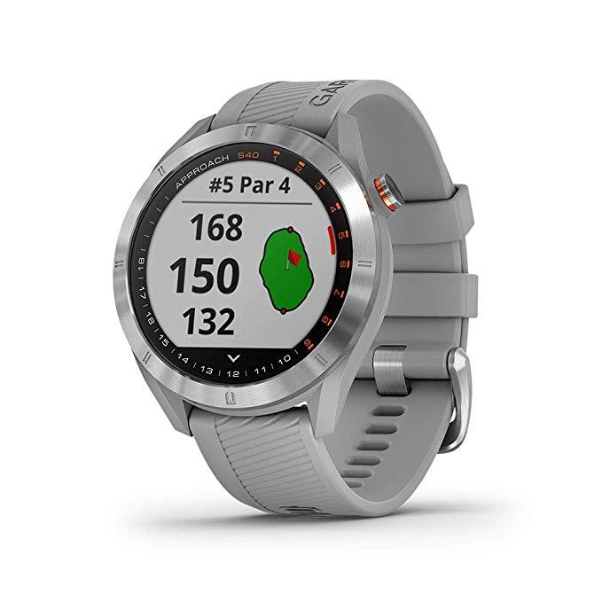 Promo Original GOLF GPS watch Garmin Approach S40 , Stylish GPS Golf Smart watch Lightweight with Touchscreen Display waterproof watch