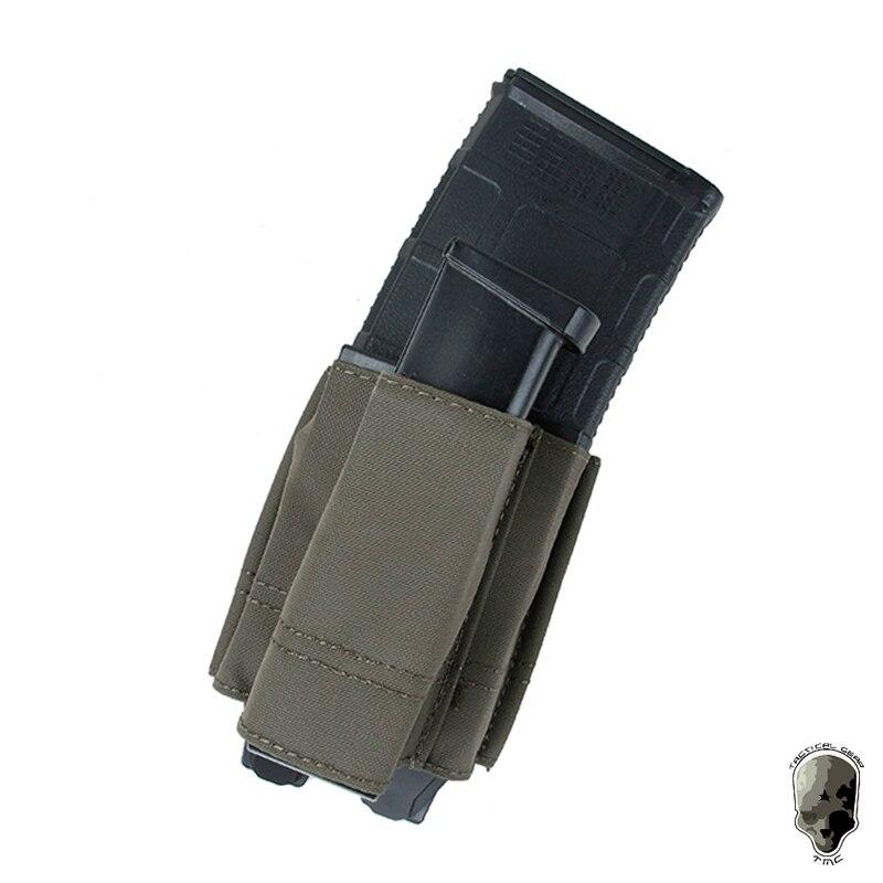 Tmc tático 5.56 única pistola mag bolsa conjunto molle 9mm compartimento transportadora multicam 3075