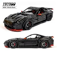high tech machinery moc 41271 f12 super sports race cars building blocks bricks model with stickers remote control rc diy toys