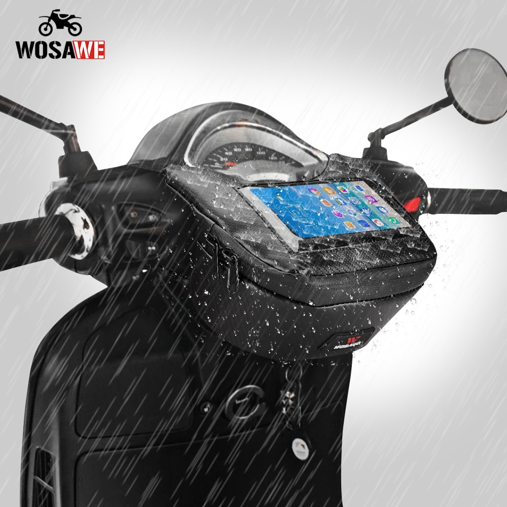 куртка утепленная front street front street fr053ewgahh5 WOSAWE Motorcycle Front Bag Waterproof Mobile Phone Touch Screen Storage Bag Scooter Front Bag Street Motorcycle Waist Bag