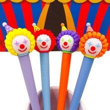 1 stücke Neuheit Nette Gel Stift Cartoon Circus Clown 0,5mm Schwarz Tinte Stift Kawaii Student Schreibwaren Bürobedarf Lustige