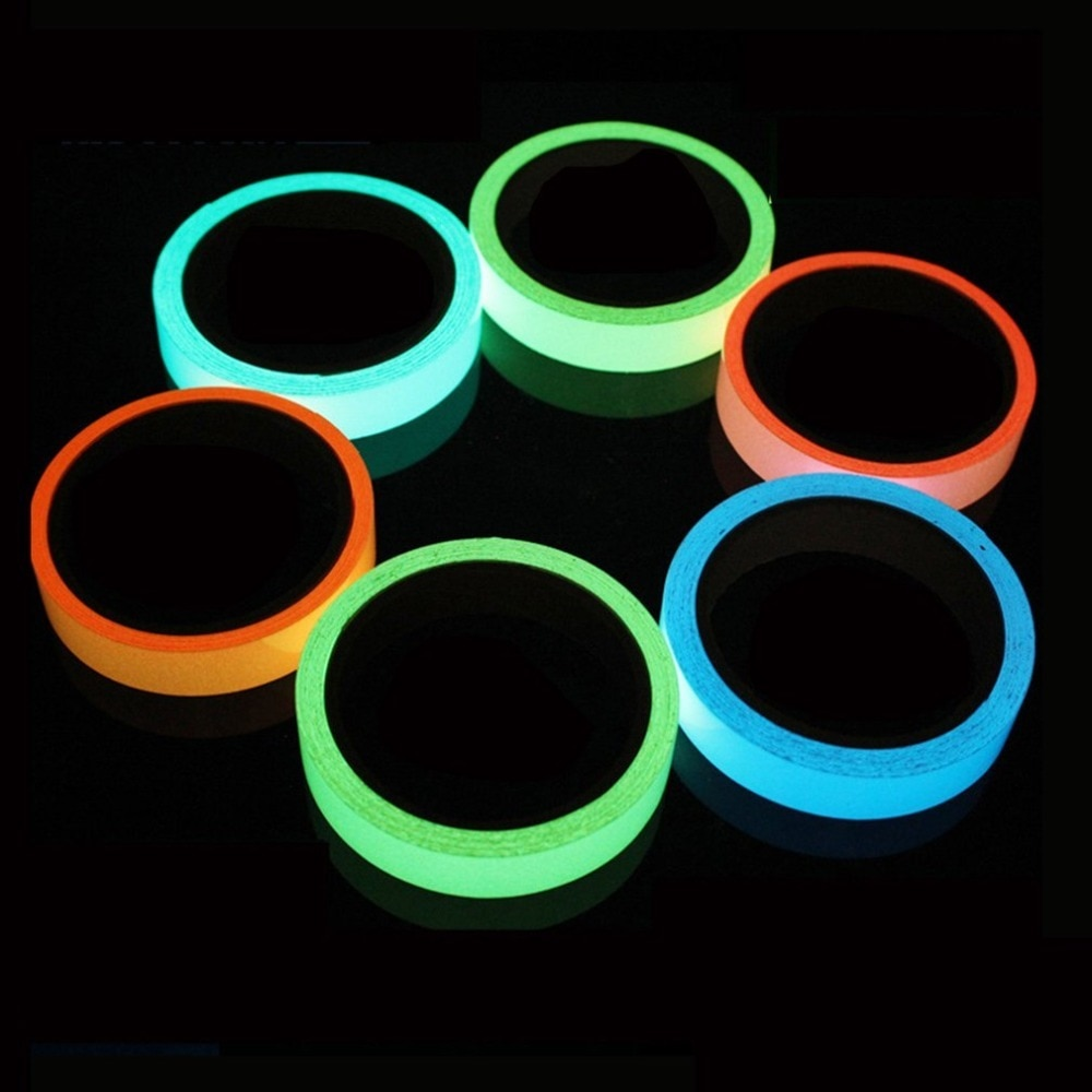 flash deal colorful reflective tapes glow self adhesive sticker luminous fluorescent glowing tapes dark striking warning tape Reflective Glow Tape Self-adhesive Sticker Removable Luminous Tape Fluorescent Glowing Dark Striking Warning Tape Dropshipping