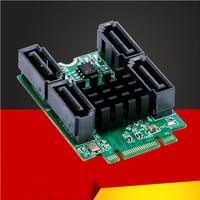 QINDIAN Add On Cards M2 to SATA M.2 to SATA Card M.2 SATA Adapter/Controller/HUB SSD SATA3 Expansion Port Multiplier M.2 B+M Key