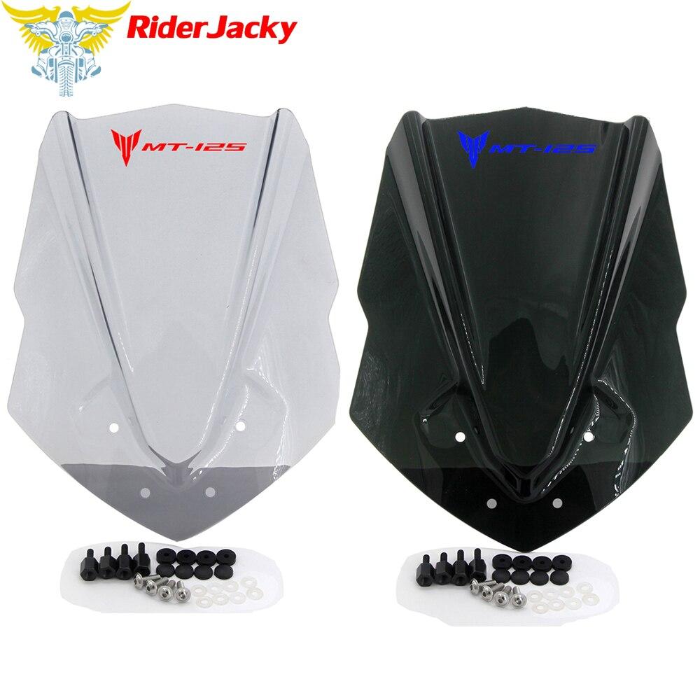 For Yamaha MT-125 MT 125 2015 2016 2017 2018 2019 Motorcycle Windscreen Windshield Wind Deflector
