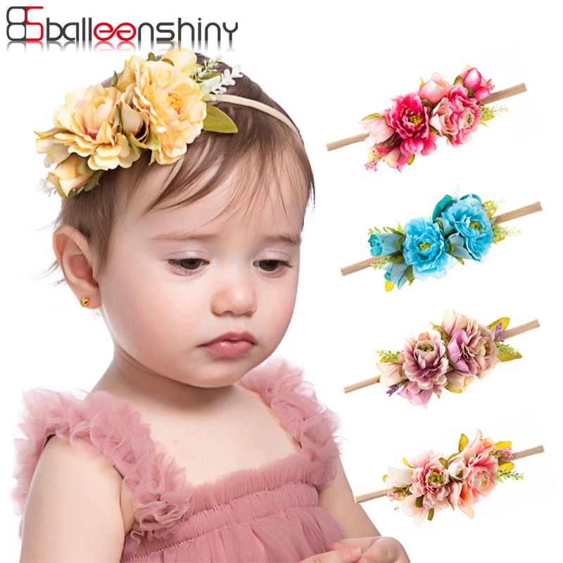 fashion multi color simulation rose flower baby stretch headband newborn photography props infant toddler hair band Balleenshiny Fashion Multi-color Simulation Rose Flower Baby Stretch Headband Newborn Photography Props Infant Toddler Hair Band