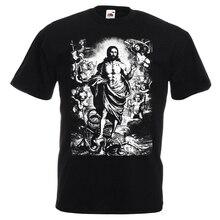 Christus Triumphalen Über Tod V1 Catolic DTG Druck T Shirt Alle größen S-5XL
