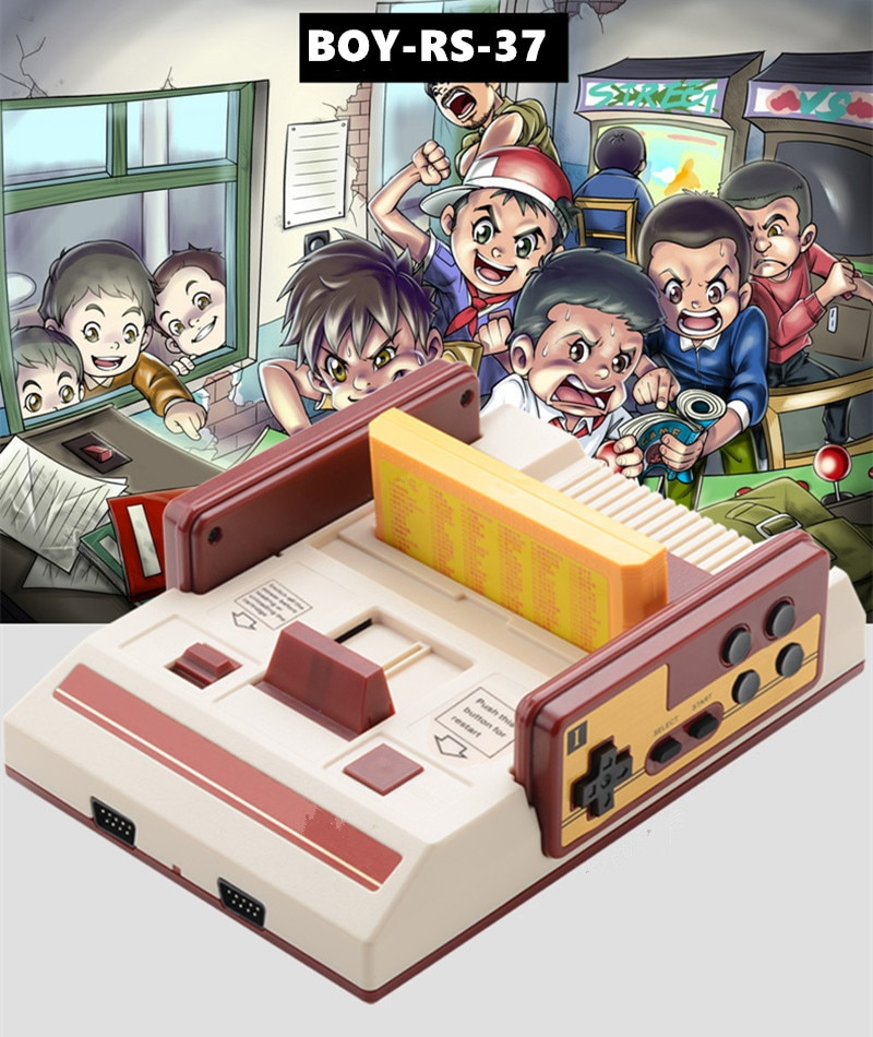 8 bit TV Game Player Classic Red White Video Game Consoles Video Game Console Yellow Card Plug-in Card Games RS-37 enlarge
