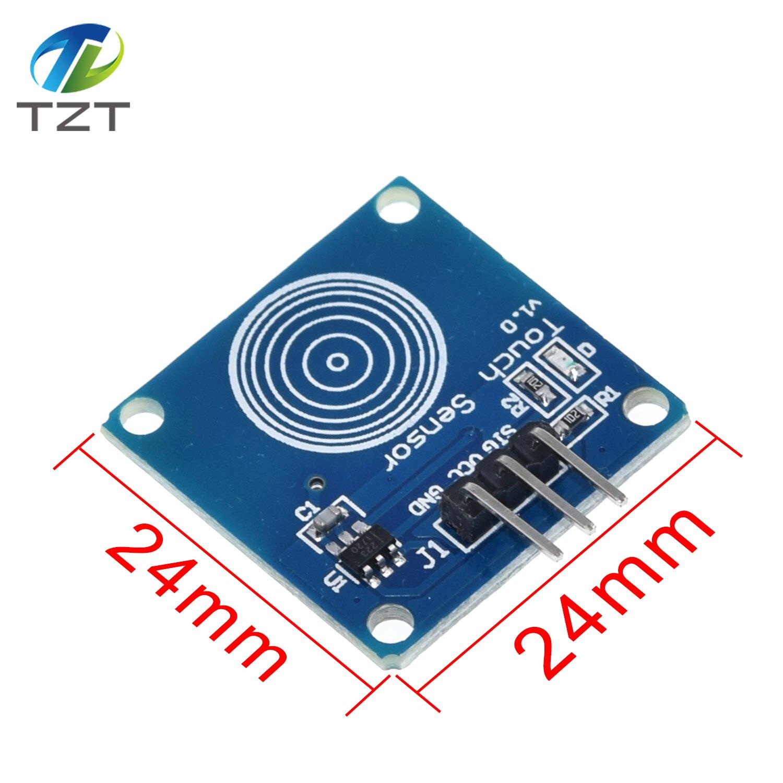 10 Uds TTP223 TTP223B para correr sensor táctil digital táctil capacitiva táctil accesorios para módulos para Arduino