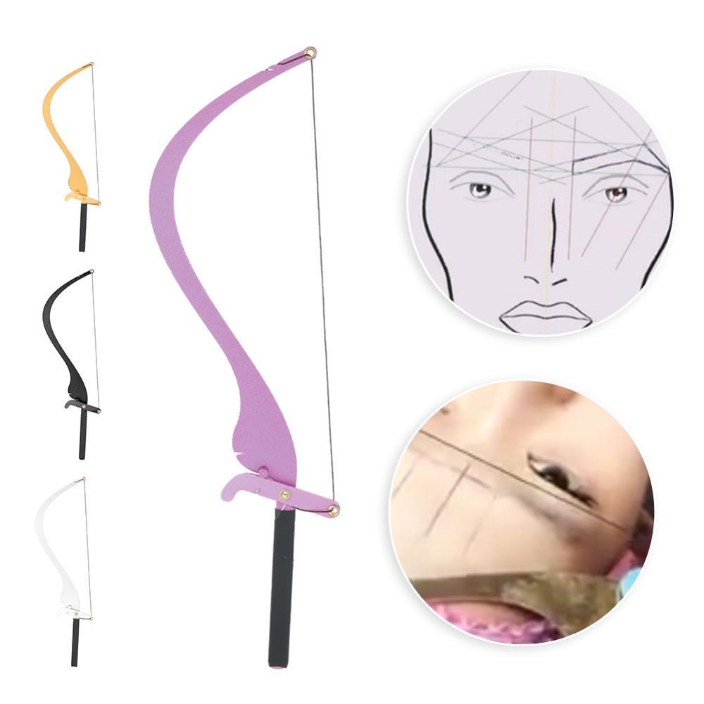 Новая линейка для микроблейдинга с 10 нитями, измерительная линейка для бровей, набор перманентных принадлежностей для макияжа