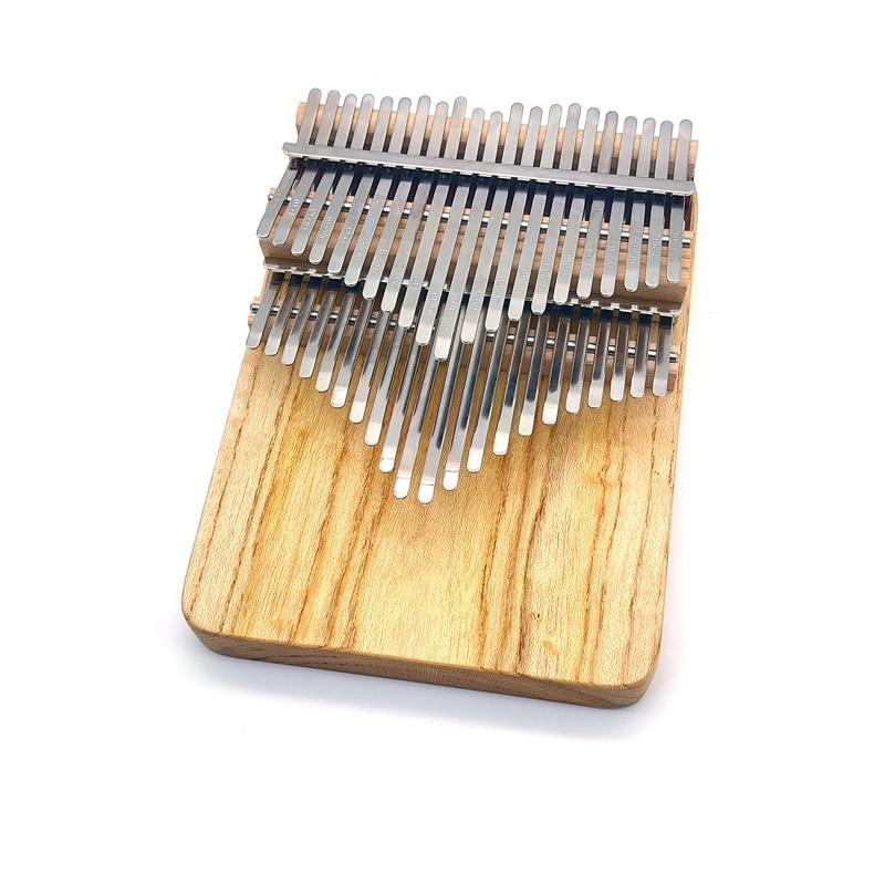 Chromatic Kalimba 42 Keys Handmade Thumb Piano Double Row Keyboard Log Color Acacia Wooden Musical Instrument enlarge