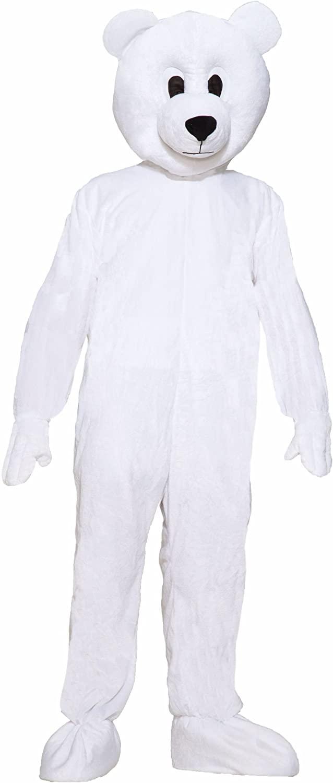 رخيصة الأبيض الدببة الضخمة زي التميمة الإعلان بذلة تأثيري Fursuit هالوين مرحلة الأداء