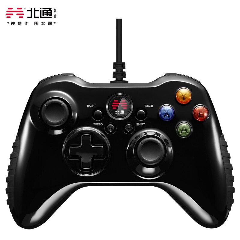 Betop Asura 2 USB السلكية أذرع التحكم في ألعاب الفيديو غمبد مع الاهتزاز و توربو وظيفة المقود ل TV أندرويد ويندوز 8/10 PS3 المضيف