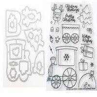 christmas locomotive metal cutting dies scrapbook diary decoration stencil embossing template diy handmade 2021 new cut