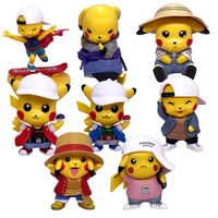 q version pikachu hand made blind box toy anime car ornaments blind box hand made childrens toys 75z