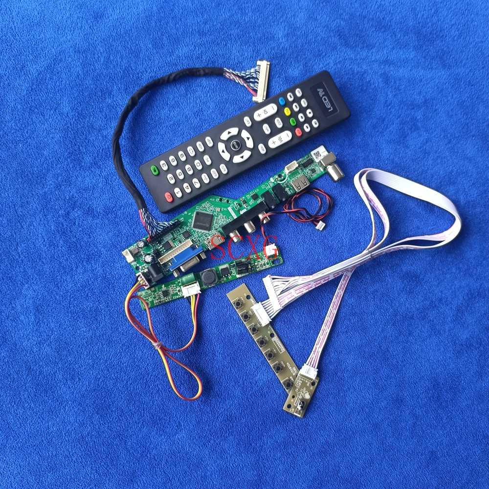 LED 1920*1080 جهاز تحكم بالشاشة طقم اللوحة 30 دبوس LVDS التناظرية HDMI متوافق USB AV VGA ل M240HW01/M240HW02/M240Q004/M240Q005