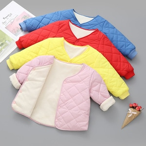New children's down padded jacket, warm winter cotton-padded jacket, male baby liner, female baby quilted jacket, light style
