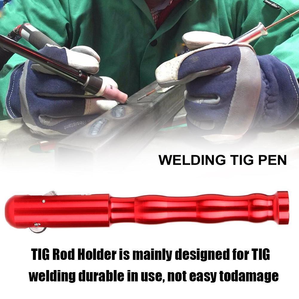 Soldadura Tig pluma dedo alimentador varilla titular relleno soldadura de alambre pluma dedo alimentador Tig lápiz para soldar para 1,0-3,2mm alambre W G1W0