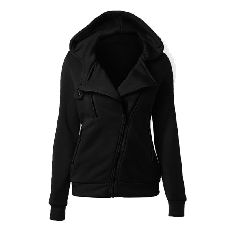 Женские теплые модные толстовки на молнии, толстовки с длинным рукавом, куртки с капюшоном, джемпер, пальто, верхняя одежда, женские толстов...