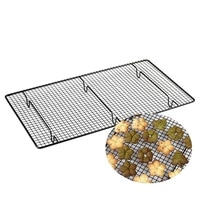 stainless steel wire grid bread biscuit cake cooling rack cookie barbecue egg tart baking tray stand kitchen pizza shelf