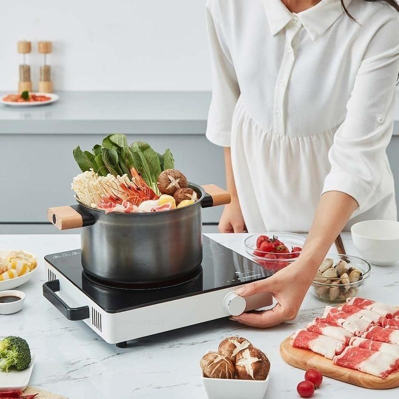 MIJIA-olla caliente de Cocina eléctrica, 220V, placa de horno eléctrico inteligente, Control preciso, Original, XIAOMI