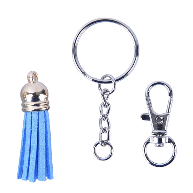 125Pcs/Set DIY Crafts Jewelry Making Men Women Trendy Casual Keychain Key Chain Ring Pendants Tassel Bulk