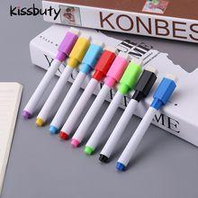 8 Colors Erasable Magnetic Whiteboard Marker Pen Blackboard Marker Chalk Glass Ceramics Office Schoo