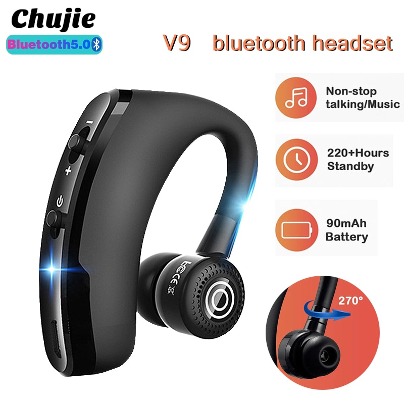 V9 TWS Wireless Headphones Bluetooth Ear-hook Gaming Headsets Waterproof Sports Earbuds For Xiaomi H