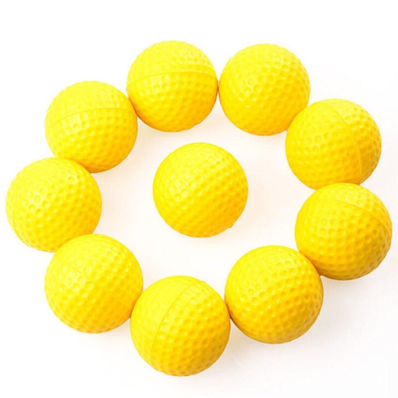 10 Uds. De alta calidad Color brillante luz entrenamiento Interior Exterior práctica Golf deportes pelotas de Golf elásticas accesorios de Golf