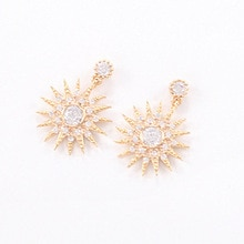 South Korea imported jewelry wholesale earrings beauty born Han Yi Se with the sun flower crystal st