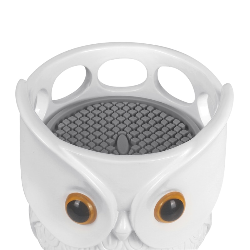 Support de Table de hibou de dessin animé, Statue de support de haut-parleur intelligent, support de berceau de bureau pour Homepod Mini