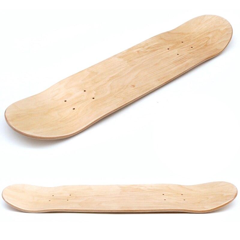 Kaykay güverte 7 katmanlar ahşap akçaağaç çift içbükey Skate kurulu 28 inç Longboard çift Rocker baskı DIY parçası boş kurulu