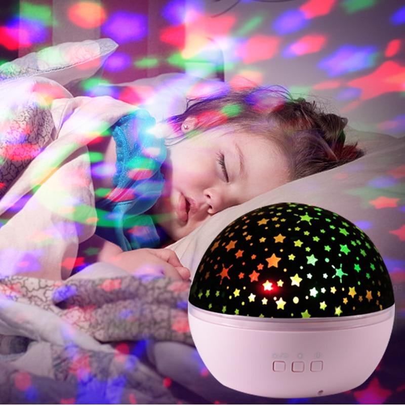 Романтические светящиеся игрушки, новинка, звездное небо, светодиодный Ночной светильник, проектор, обзор океана, вращающийся Ночной свети...