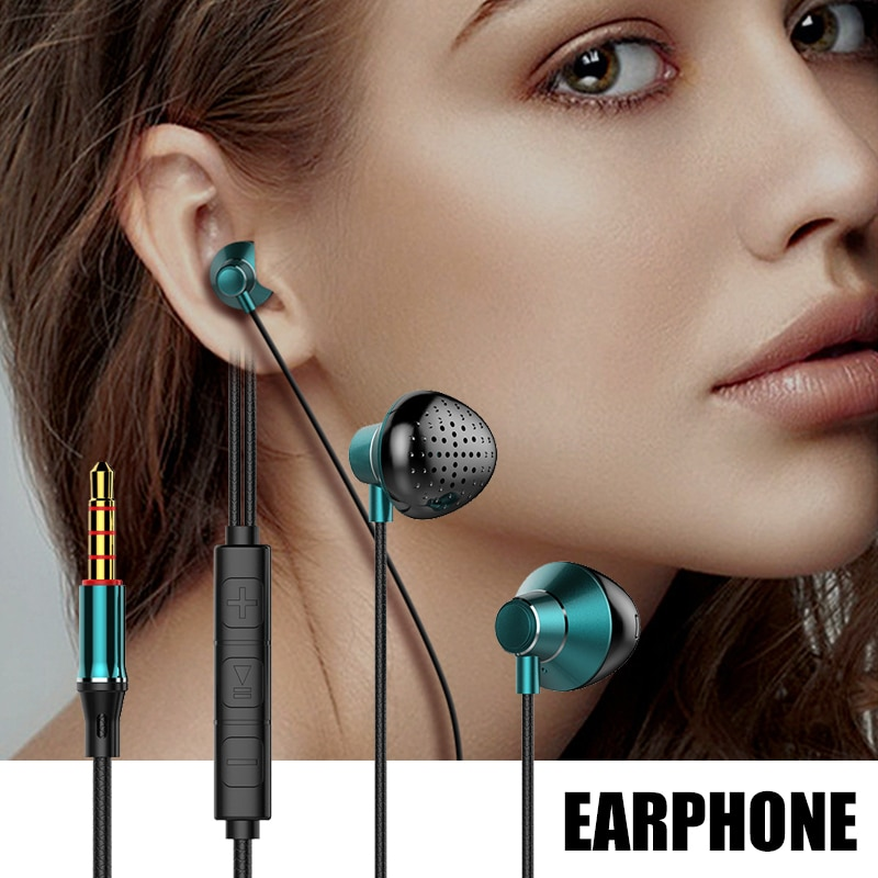T3 Stereo With Microphone Connector Earbuds Earphone Wired Headphones Headset With Mic And Volume Control Isolation Noise