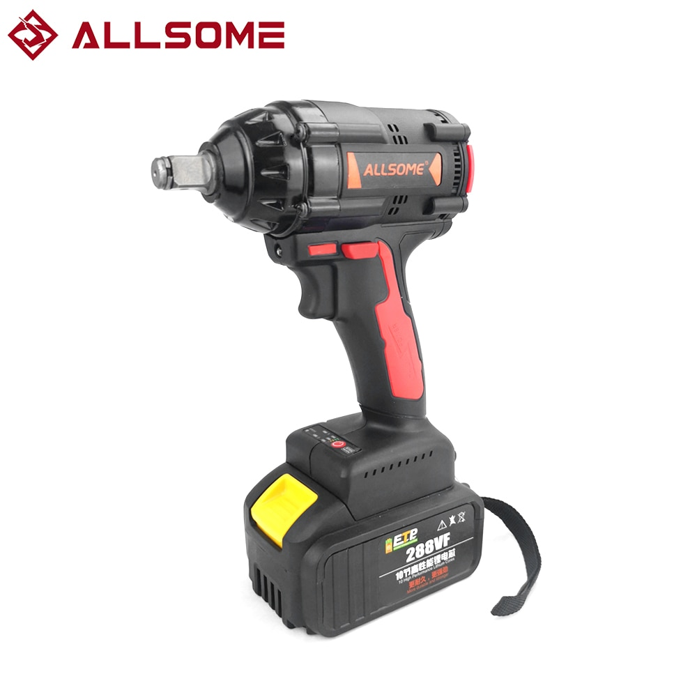 ALLSOME-مفتاح ربط بدون فرش 288VF 350NM ، بطارية ليثيوم أيون ، محرك بدون فرش ، مفتاح كهربائي ، أداة كهربائية مع غلاف شاحن