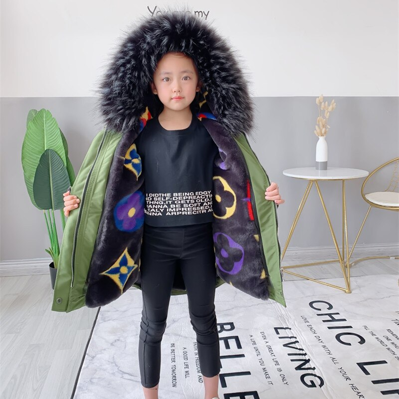 Faux Fur Warm Toddler Boy Jackets Hooded Windproof Baby Girl Coats Outdoor Children Snowsuit Thick Teenage Kids Snowsuit Clothes enlarge