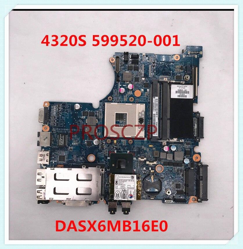 Материнская плата для ноутбука HP 4320S 4420S DASX6MB16E0 599520-001 HM57 DDR3 100%