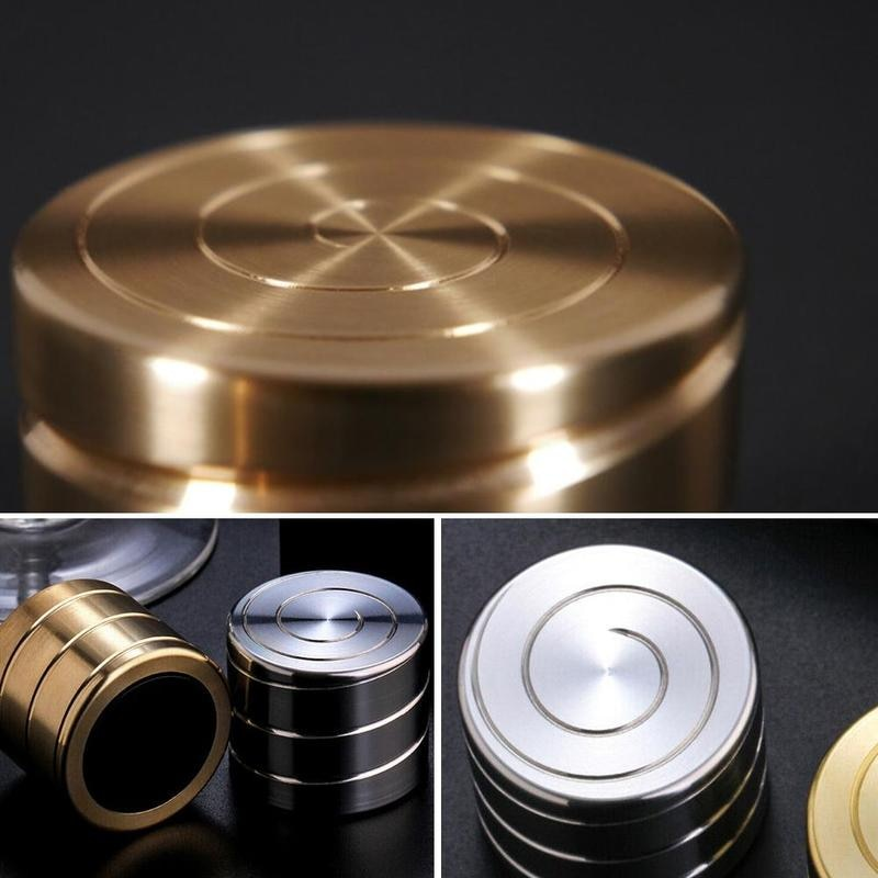 Creative Rotating Toy Desktop Decompression Rotating Cylindrical Gyroscope Office Desk Spin Toys Optical Illusion Flowing enlarge