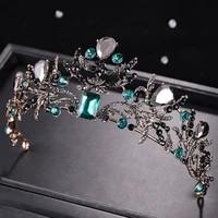 bridal headdress ancient golden wedding accessories emerald hairband bride hair accessories girl hair accessories party