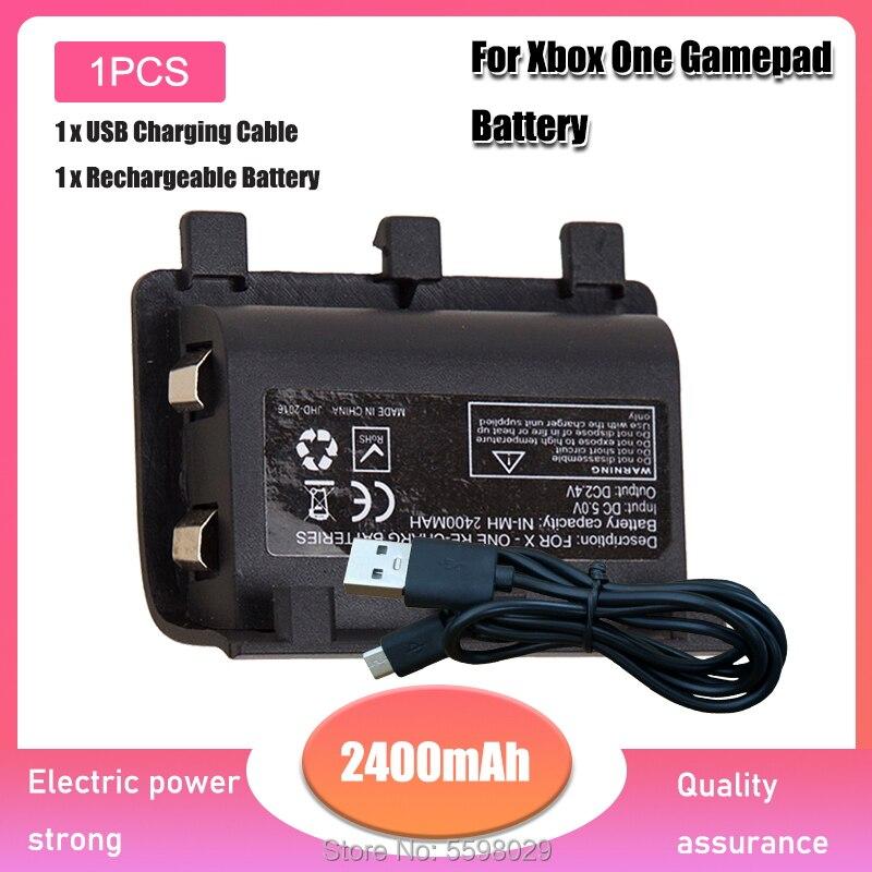 Baterías portátiles de 2400mAh con Cable USB para XBOX ONE, Kit de...