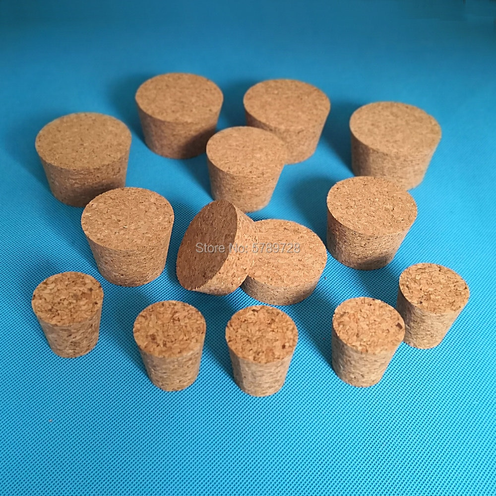 10pcs Top DIA 32mm to 83mm Wood Cork Lab Test Tube Plug Essential Oil Pudding Small Glass Bottle Stopper Lid 10pcs lot 4 10 rubber stopper erlenmeyer flask plug bottle stopper test tube rubber cap