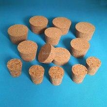 10 pièces diamètre supérieur 32mm à 83mm bois liège laboratoire Tube à essai bouchon huile essentielle pouding petit bouchon de bouteille en verre couvercle