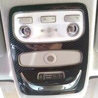For Renault Clio IV 5door Hatchback 2013-2018 ABS Carbon Fibre/Chrome Car front reading Lampshade panel Car Accessories 1pcs