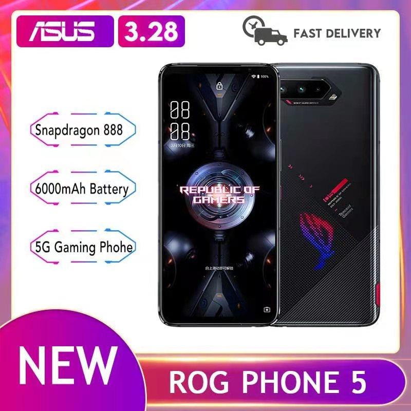 Перейти на Алиэкспресс и купить Новый ROG Phone 5 Snapdragon888 8/12/16G RAM 128/256G ROM 144 Гц Samsung AMOLED экран 6,78 дюйм6000 мАч аккумулятор большой емкости 5G игровой чехол для телефона