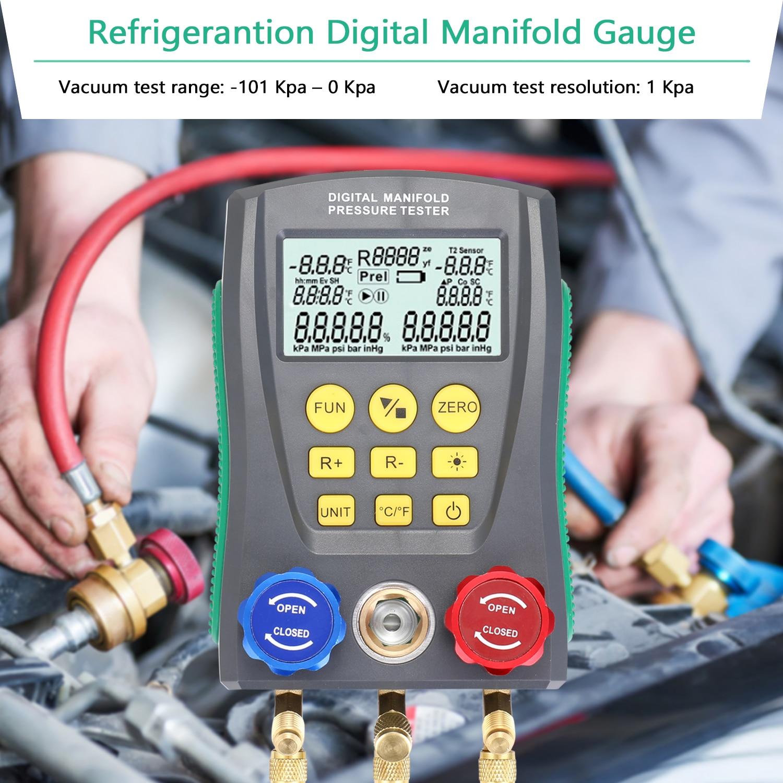 مقياس الضغط الرقمي للتبريد ، مقياس ضغط التبريد ، مقياس ضغط الفراغ ، مقياس درجة حرارة HVAC
