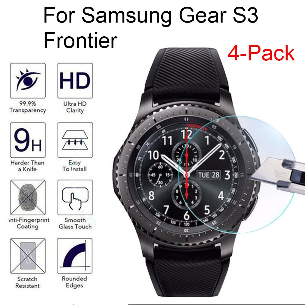 4 шт Смарт-часы закаленное стекло экран для samsung gear S3 Frontier 9H Закаленное стекло Защитная пленка для экрана