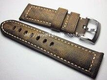 Mannen Handgemaakte Riem 20mm 21mm 22mm 26mm 24mm Retro Bruine Vintage Lederen Horlogeband Voor PAM PAM111 PAM441/Panerai Pilot Horloge